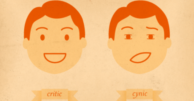 Criticism vs Cynicism