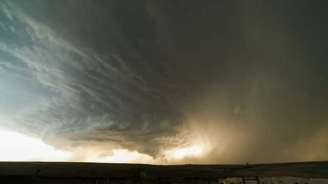 A Supercell Thunderstorm Over Texas