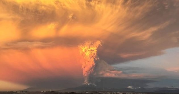 Chile Volcano Eruption in Slo-Mo
