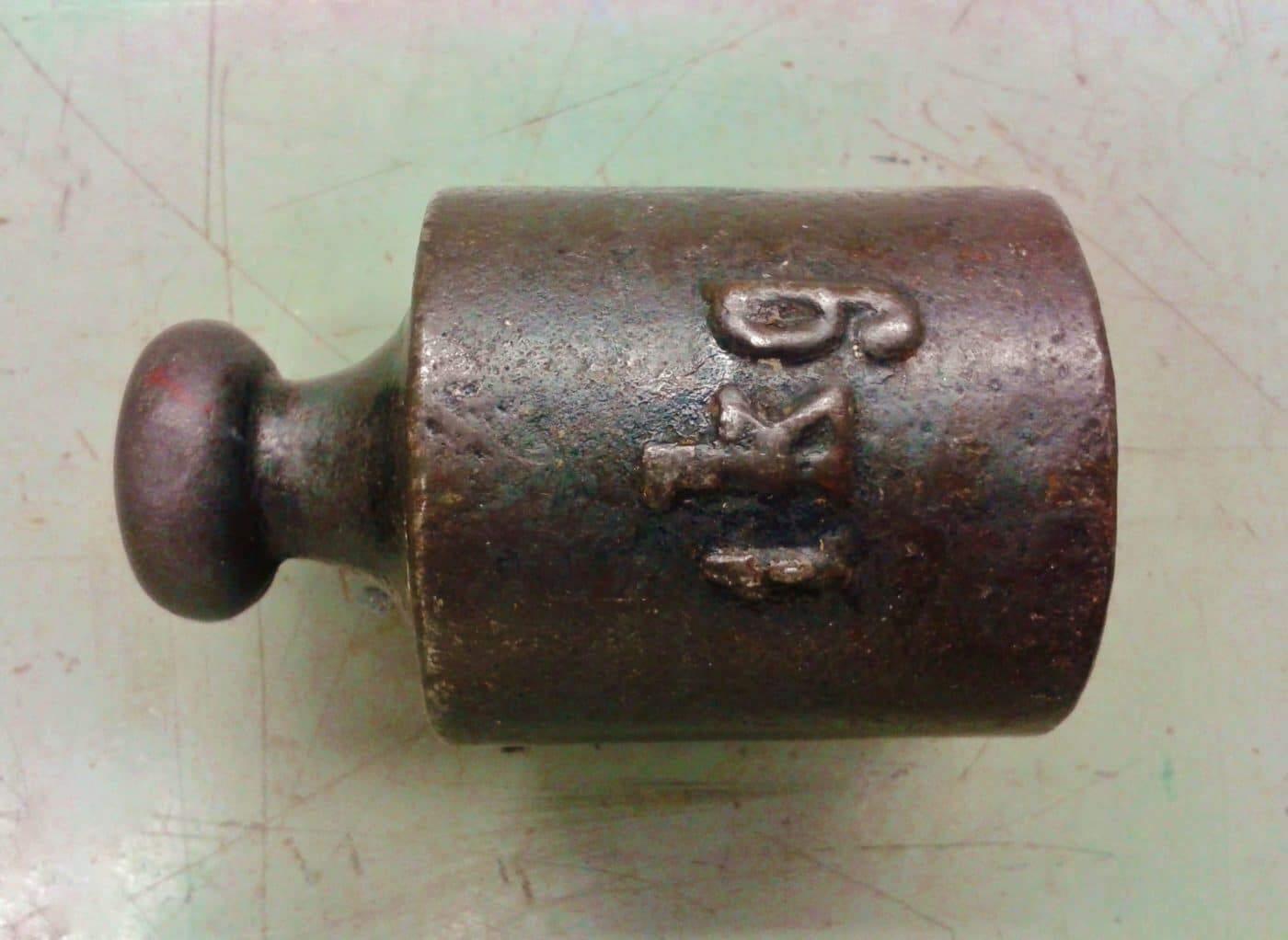 antique kilogram weight